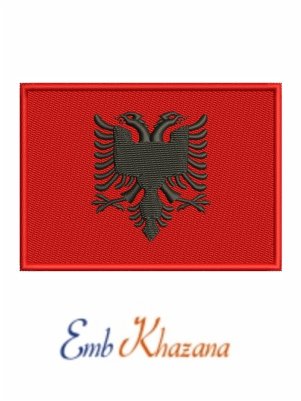Flag of Albania embroidery design