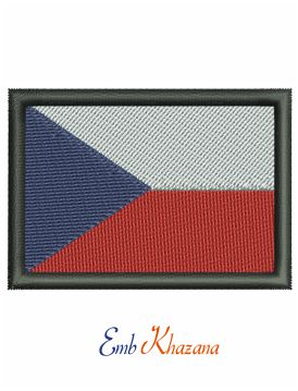 Flag of the Czech Republic embroidery design