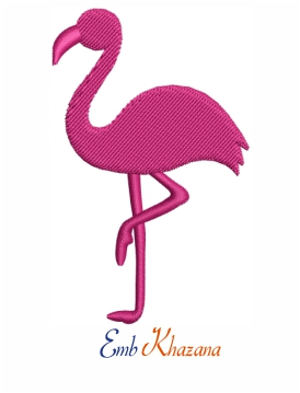 Flamingo bird embroidery design