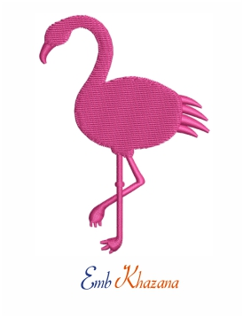 Flamingos bird machine embroidery design