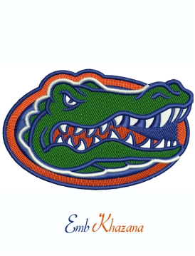 Florida Gators Football Logo Machine Embroidery Design