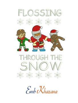 Flossing Snow Christmas