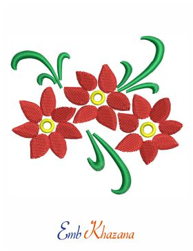 artificial flower embroidery design