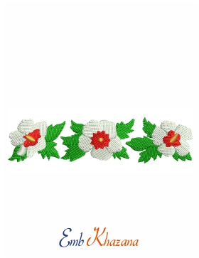 White Flower Embroidery Pattern