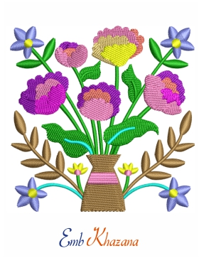 Peony Flower Embroidery Pattern