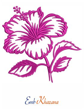 Hawaiian hibiscus flower design