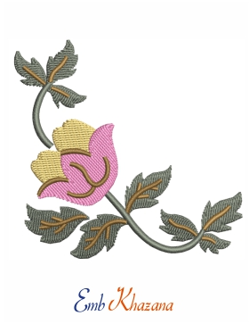 Peony Flower Embroidery Design