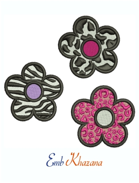 Beautiful Y2K Flowers Machine Embroidery Design