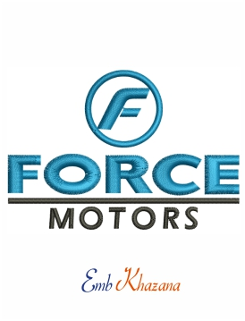 Force motors Embroidery design