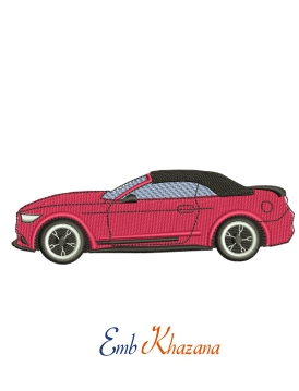 Ford Mustang V8 Embroidery Design