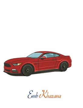 Ford Mustang Car Embroidery Design
