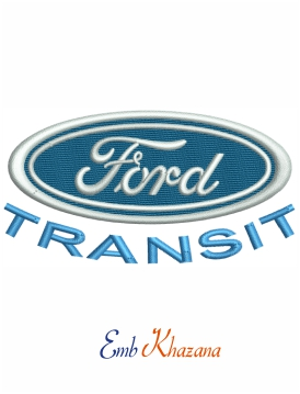 Ford Transit logo embroidery design