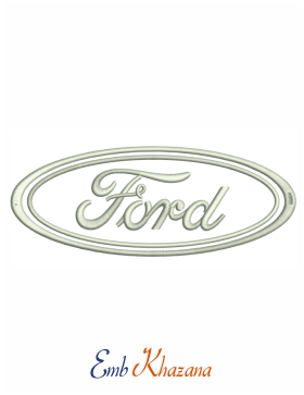 Ford Logo Embroidery Pattern