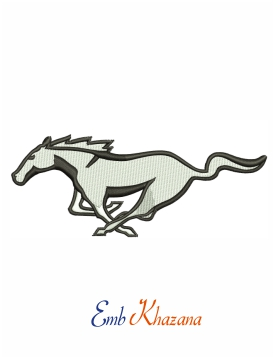 Ford mustang horse embroidery design