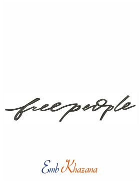 Free People Logo Embroidery Design