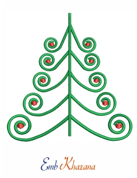 Free Christmas Tree embroidery design