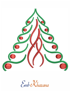Christmas Tree Free Embroidery Design