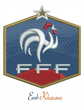 French National Football Logo Embroidery Design