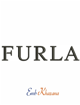 Furla logo machine embroidery design
