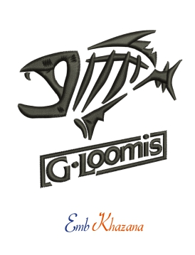G Loomis Logo Embroidery Design