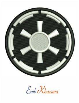 Galactic Empire Symbol Logo Embroidery Pattern