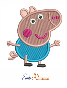 George pig embroidery design