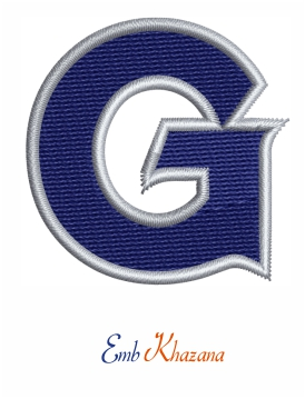 Georgetown Hoyas logo embroidery design