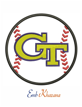 georgia tech logo embroidery design