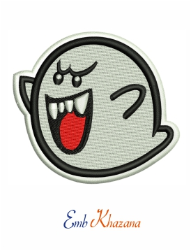 Ghost Boo Embroidery Design