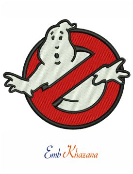 Ghostbuster Logo Embroidery Design