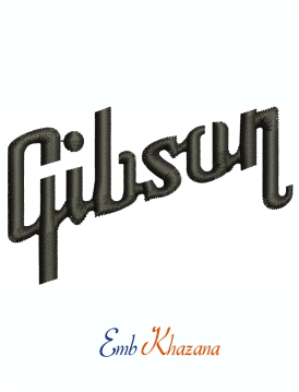 Gibson Brands Logo Machine Embroidery Design