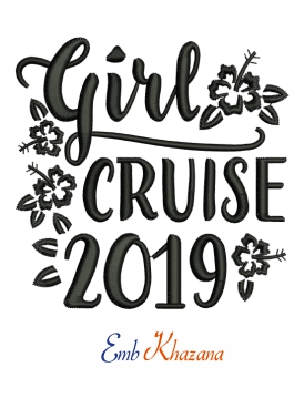 Girl Cruise 2019 Embroidery Design