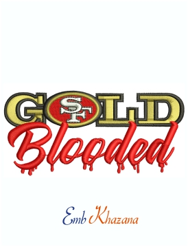 Gold Blooded SF 49 Machine Embroidery Design