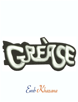 Grease Movie Logo Machine Embroidery Design