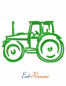 Green Tractor Outline