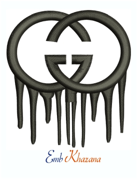 Gucci dripping logo Machine Embroidery Design