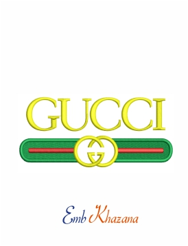 Gucci clothing brand machine embroidery design