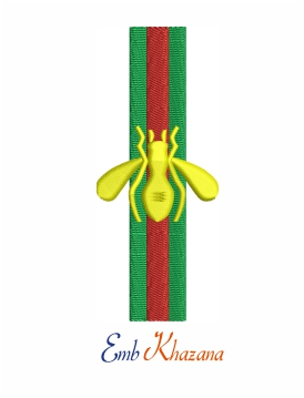 Gucci bee logo embroidery design for machine