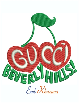Gucci Beverly Hills machine embroidery design