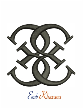 Guess logo embroidery design for machine