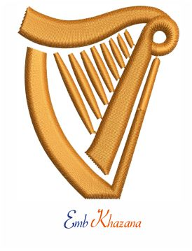 Guinness Harp embroidery design