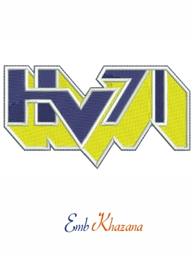 HV71 Logo Embroidery design