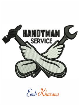 Handyman services embroidery design