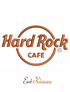 Hard Rock Cafe Embroidery Design
