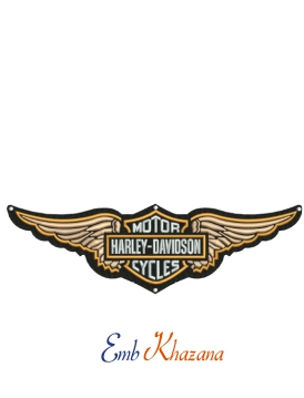 Harley Davidson Wings Embroidery