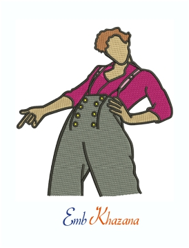 Harry Styles Characters Machine Embroidery Design
