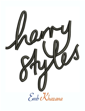 Harry Styles letter Machine Embroidery Design