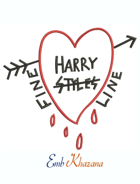 Harry Styles Fine Line Machine Embroidery Design