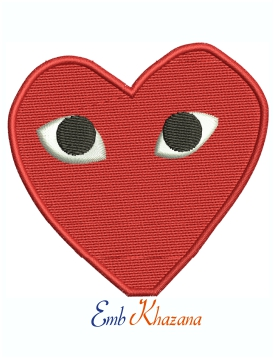 Heart With Eyes embroidery design