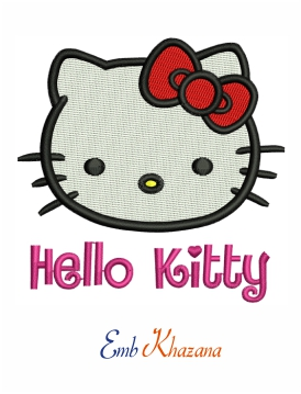 Hello Kitty embroidery design